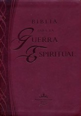 Biblia para la guerra espiritual (Imitacion piel color vino): Preparese para la guerra espiritual (Version Reina Valera 1960), Leather, imitation - Imperfectly Imprinted Bibles