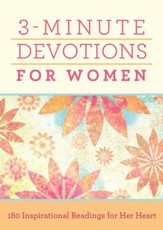 3-Minute Devotions for Women: 180 Inspirational Readings for Her Heart - eBook