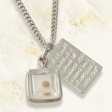 Mustard Seed Tag Necklace, Sterling Silver