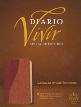 Biblia Diario Vivir RVR 1960, Piel Imit. Cafe/Cafe Claro  (RVR 1960 Life Appl. Bible, Imit. Leather Brown/Tan)