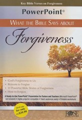 What the Bible Says About Forgiveness - PowerPoint CD-ROM