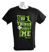 I Can Do All Things Shirt, Soccer, Black, Large