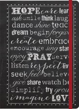 Journal Chalkboard Style, Hope - Pray- Love