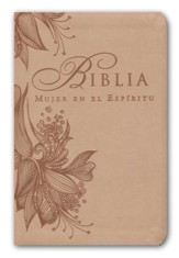Biblia Mujer en el Espiritu RVR 1960, Piel Imit. Rosa Bronceado  (RVR 1960 SpiritLed Woman Bible, Soft Leather-Look, Rose Tan)