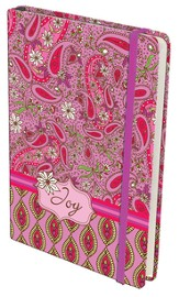 Paisley Hardcover Journal, Joy, Pink and Red