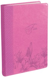 Journal, Faith, Pink