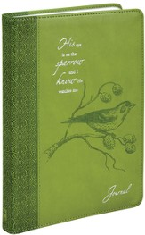 Journal, His Eye is on the Sparrow, Green