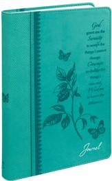 Journal, Serenity Prayer, Aqua