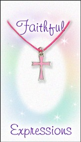Cross Necklace, Pink