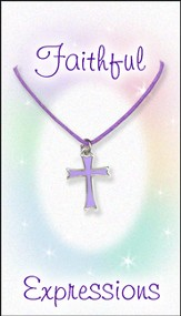 Cross Necklace, Purple