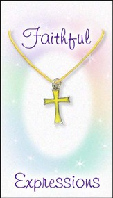 Cross Necklace, Yellow
