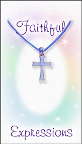 Cross Necklace, Blue