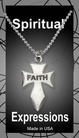 Angeled Cross Pendant, Faith