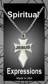 Angeled Cross Pendant, Jesus