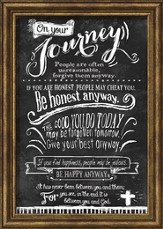 On Your Journey, Chalkboard Framed Art