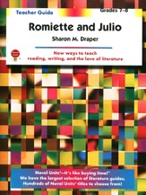 Romiette and Julio, Novel Units Teacher's Guide, Grades 7-8