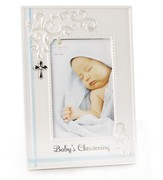 Baby's Christening Photo Frame, Blue