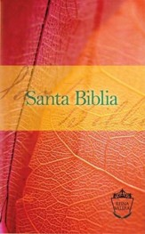 Reina Valera Compact Bible - Orange/Red Leaf: Santa Biblia - Spanish