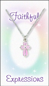 Cross Necklace Pink