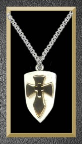 Shield Cross Pendant