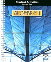 BJU Algebra 1 Grade 9 Activities Manual Key with CD-ROM,  (Third Edition)