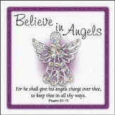 Believe In Angels Pin, Large
