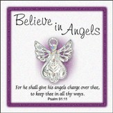 Believe In Angels Pin, Small