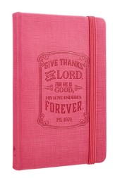 Give Thanks, Pink Lux-Leather, Notebook