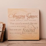 Amazing Grace, Hanging Plaque