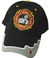 On Fire for Jesus Cap Black