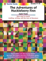 Adventures of Huckleberry Finn, Novel Units Teacher's Gd., Gr 9-12