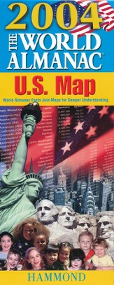 2004 World Almanac Slicker Folding U.S. Map