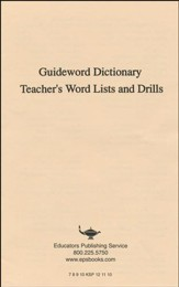 Dyslexia Training Program: Guideword Dictionary,