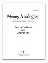 Primary Analogies, Book 3, Teacher's Guide  - Slightly Imperfect