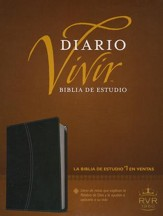 Biblia Diario Vivir RVR 1960, Piel Imit. Negro/Onice Ind.  (RVR 1960 Life Appl. Bible, Imit. Leather Black/Onyx Ind.) - Slightly Imperfect