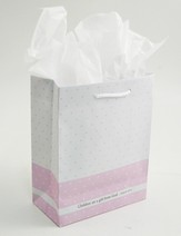Children Are a Gift From God Gift Bag, Pink, Medium