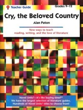 Cry, The Beloved Country, Novel Units Teacher's Guide, Grades 9-12
