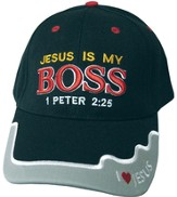 Jesus Is My Boss Cap Black