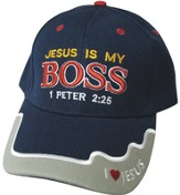 Jesus Is My Boss Cap Navy