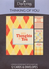 Quilts & Plaids Thinking of You Cards, Box of 12