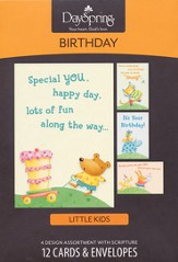 Special You, Happy Day Kids Birthday Cards, Box of 12