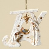 JOY, Holy Family Ornament