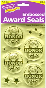 Honor Roll (Gold) Award Seals Stickers