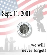 We Will Never Forget Lapel Pin, White