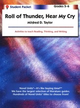 Roll of Thunder, Hear My Cry, Novel Units Student Packet, Gr. 5-6