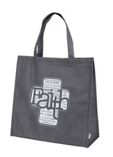 Written Reflections, Faith Tote Bag, Gray