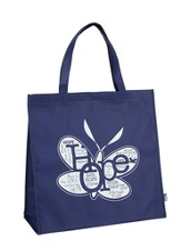 Written Reflections, Hope Tote Bag, Blue