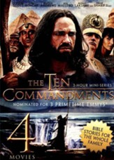 4-Movie Bible Story Collection V.1: The Ten Commandments /  Joseph and His Brethren / The Great Commandment / David and  Goliath