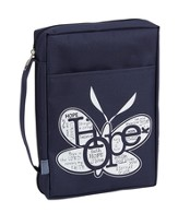 Hope Bible Cover, Navy, Large