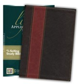 NLT Life Application Study Bible, Large Print TuTone Leatherlike Brown/Tan Indexed